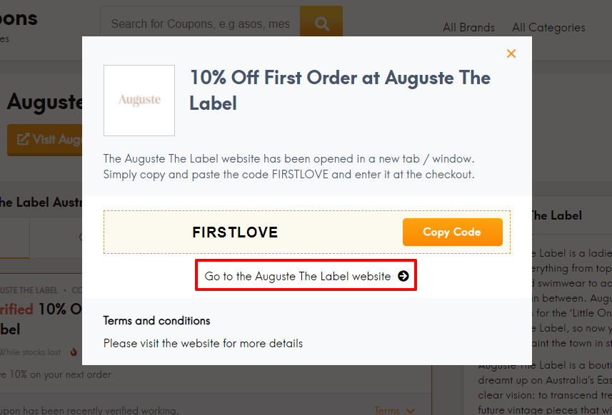 How do I use my Auguste The Label discount code?