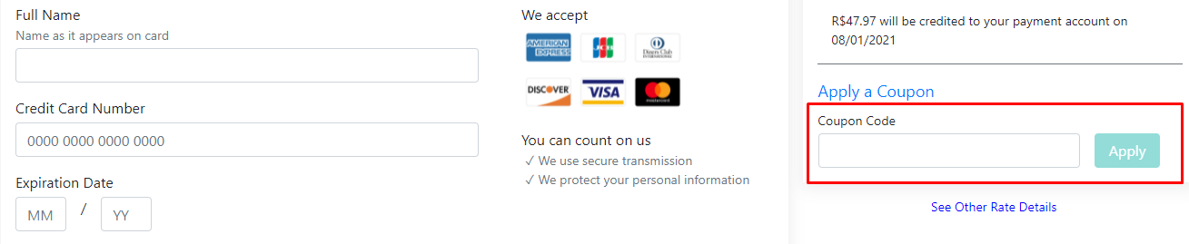 How do I use my Booking Credits coupon code?