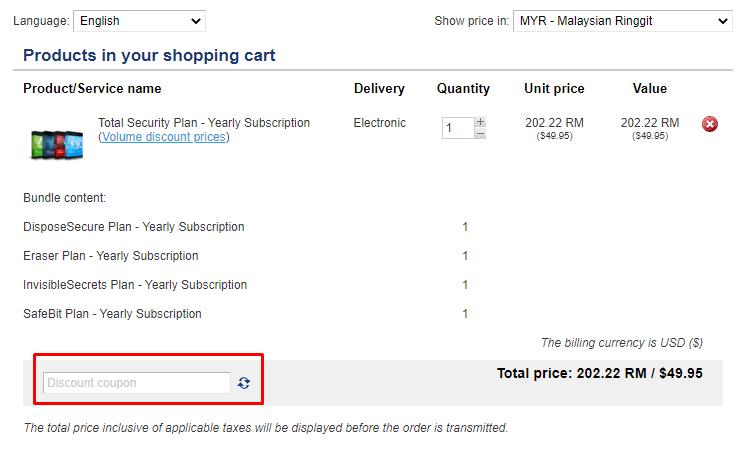 How do I use my East-Tec discount code?
