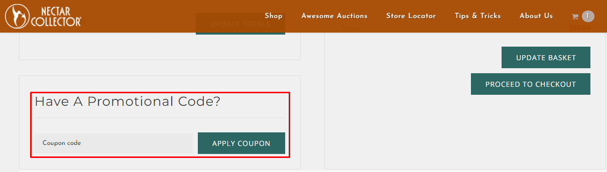 How do I use my Nectar Collector promotional code?