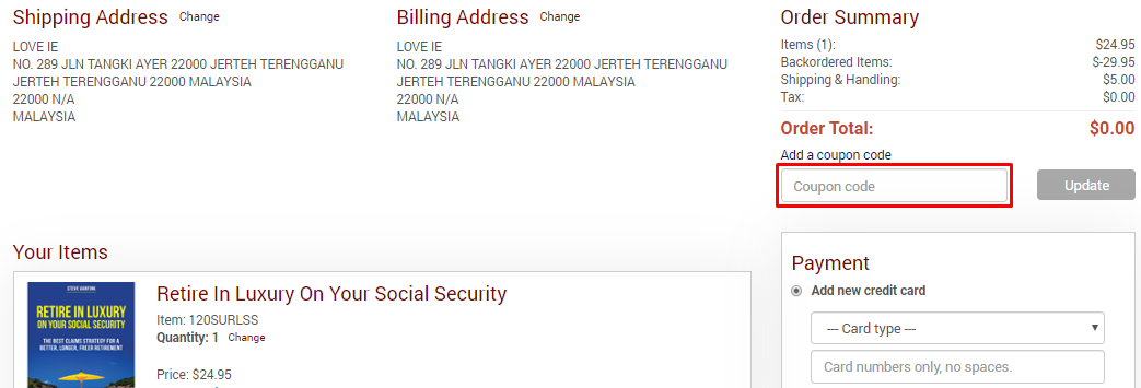 How do I use my International Living coupon code?