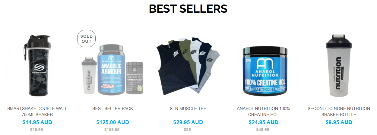 Second to None Nutrition Best Sellers