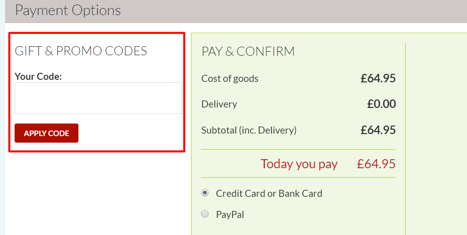 How do I use my discount code?