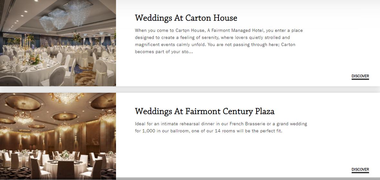 Fairmont Weddings