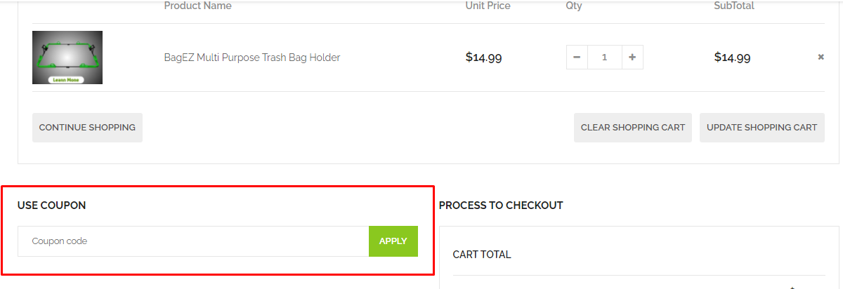 How do I use my Bagez coupon code?