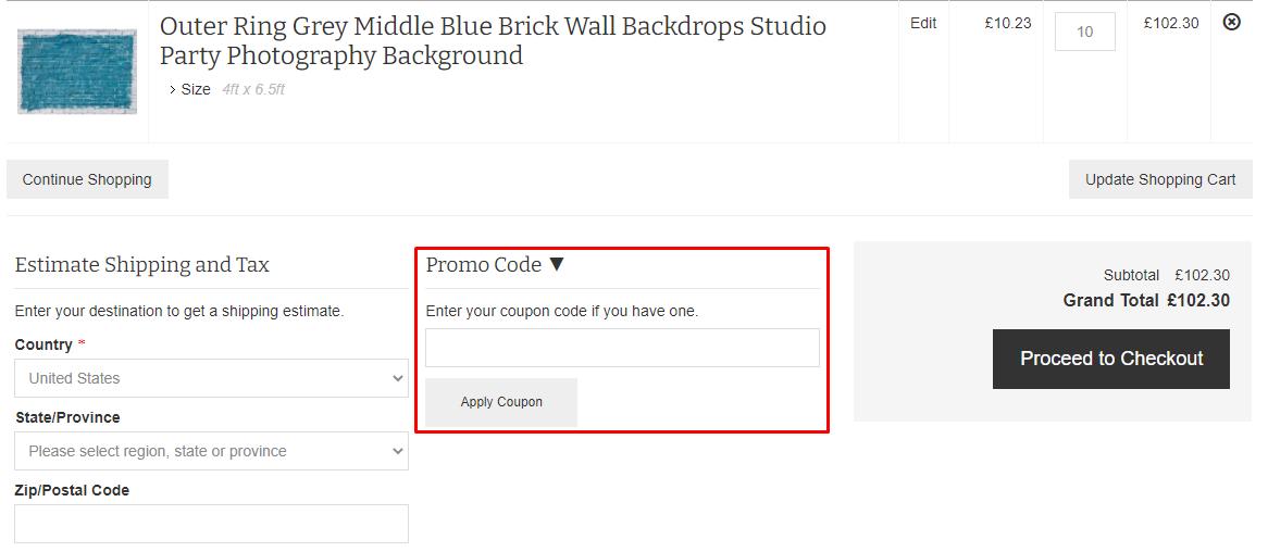 How do I use my Backdropstyle promo code?