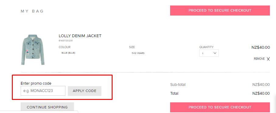 How do I use my Monsoon discount code?