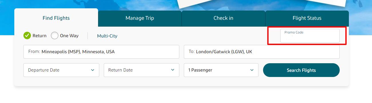 Aer Lingus US Checkout