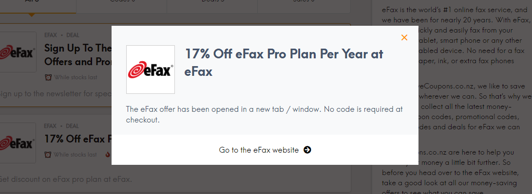eFax LCC Offer