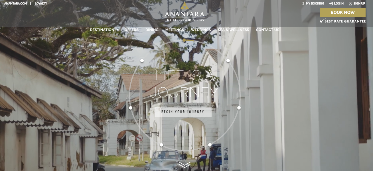 Anantara Resorts Homepage