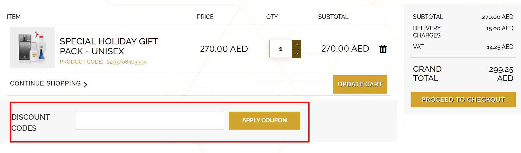 How do I use my Ajmal discount code?