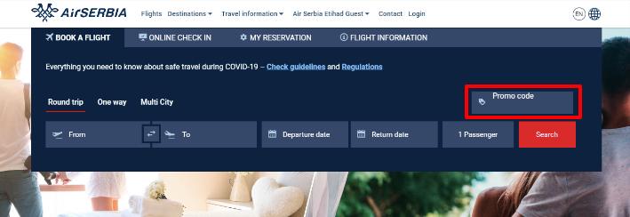Checkout Air Serbia