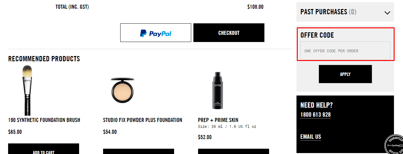 How do I use my Mac Cosmetics coupon code?