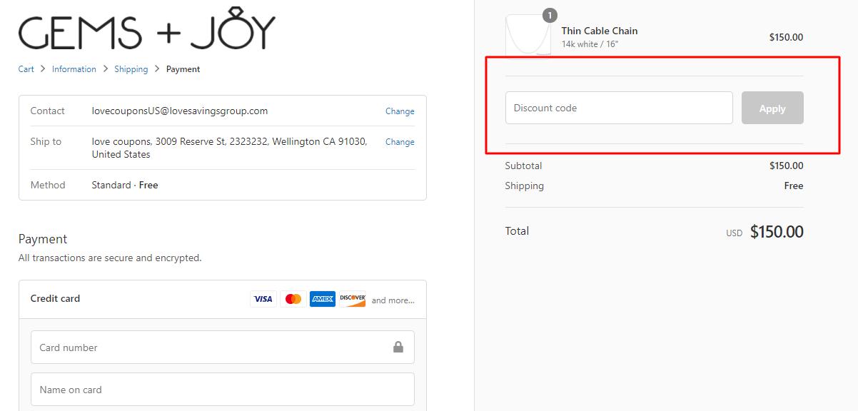 How do I use my Gems And Joy discount code?