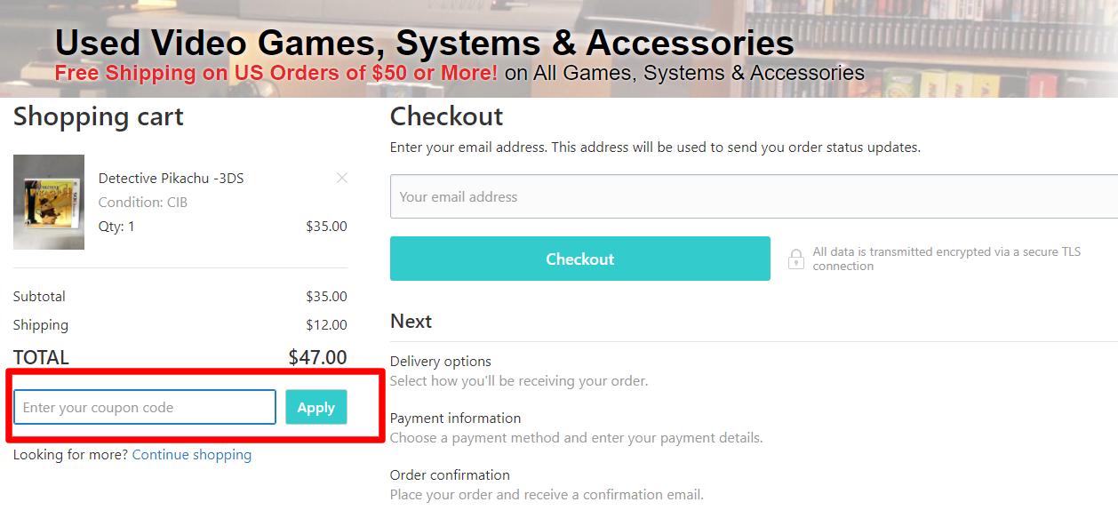 How do I use my JJGAMES.com coupon code?