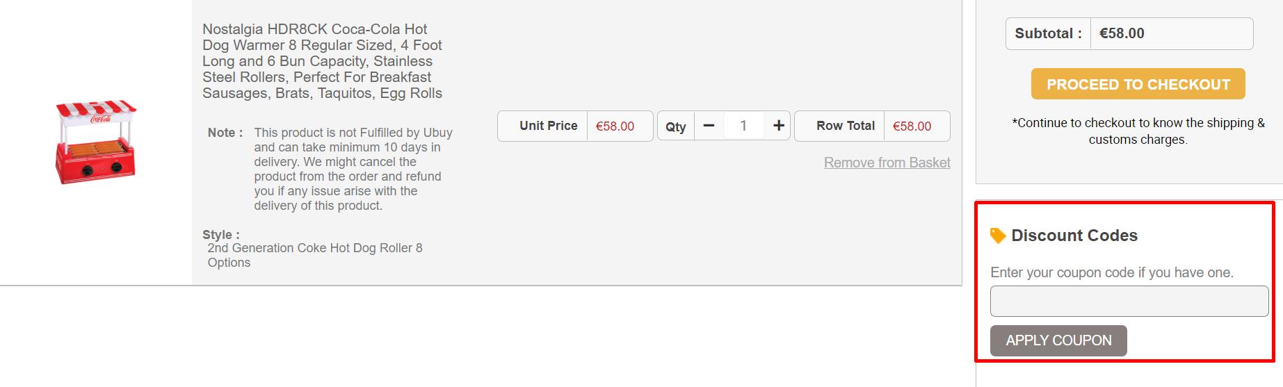 How do I use my Ubuy discount code?
