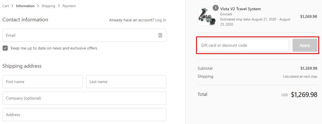 How do I use my Pokkadots & ModernNursery discount code?