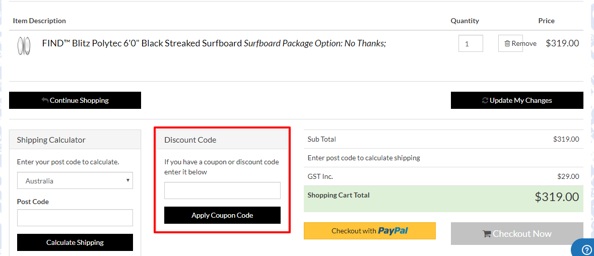 How do I use my Find Sports discount code?