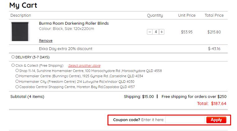 How do I use my Curtain Wonderland coupon code?