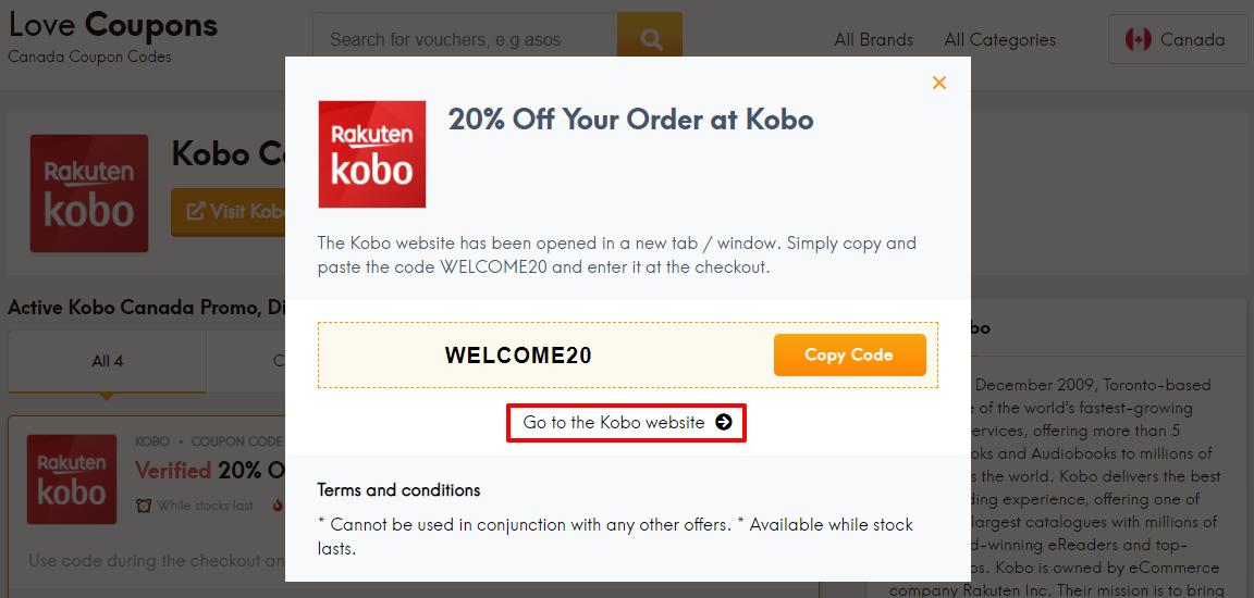 Kobo Offer CA