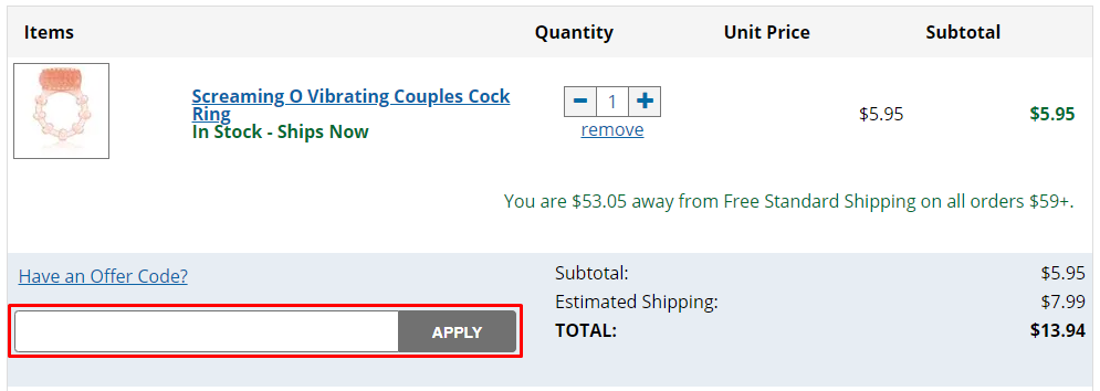 How do I use my Better Sex offer code?