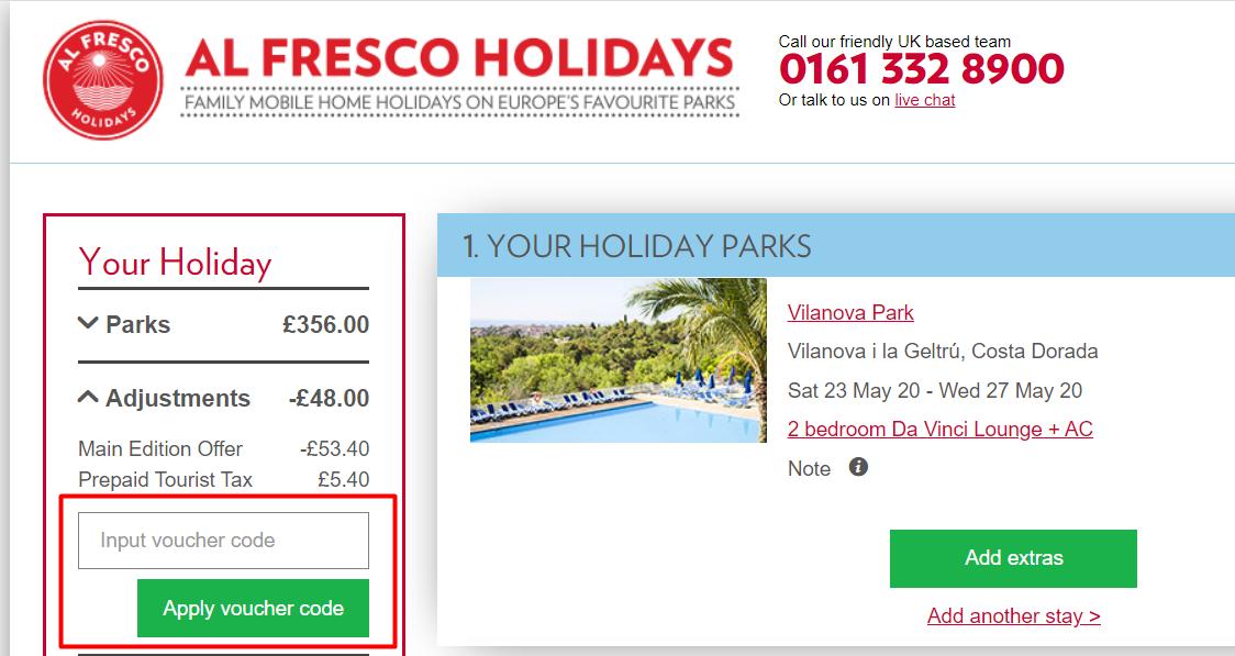 Alfresco holidays