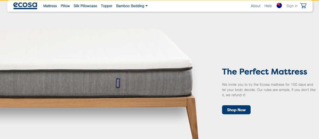 Ecosa Homepage