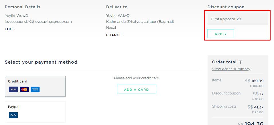 How do I use my Apposta discount code?