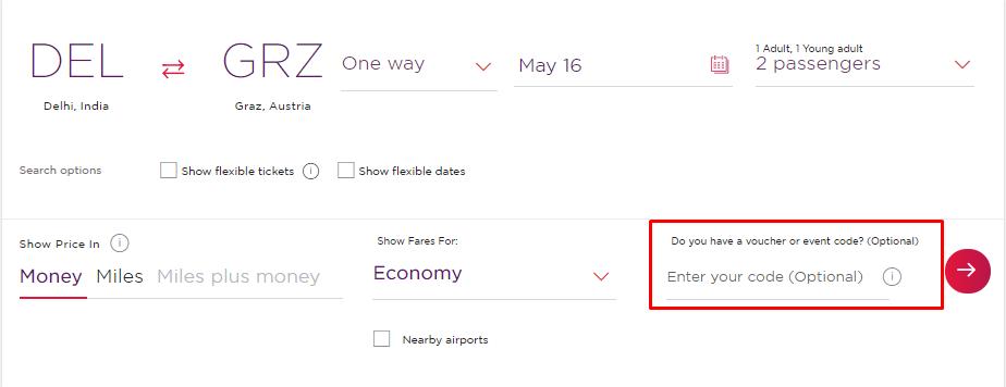 How do I use my Virgin Atlantic discount code?
