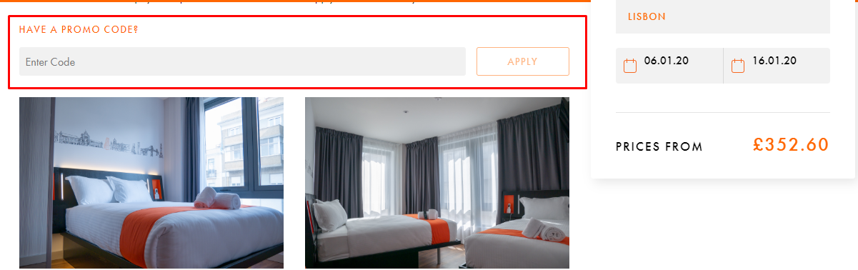 How do I use my easyHotel discount code?