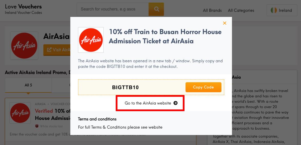 AirAsia IE Get Code