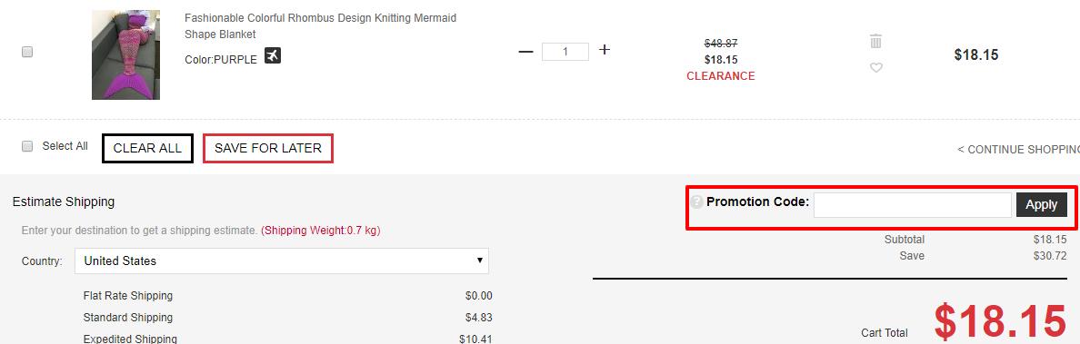 How do I use my SammyDress discount code?