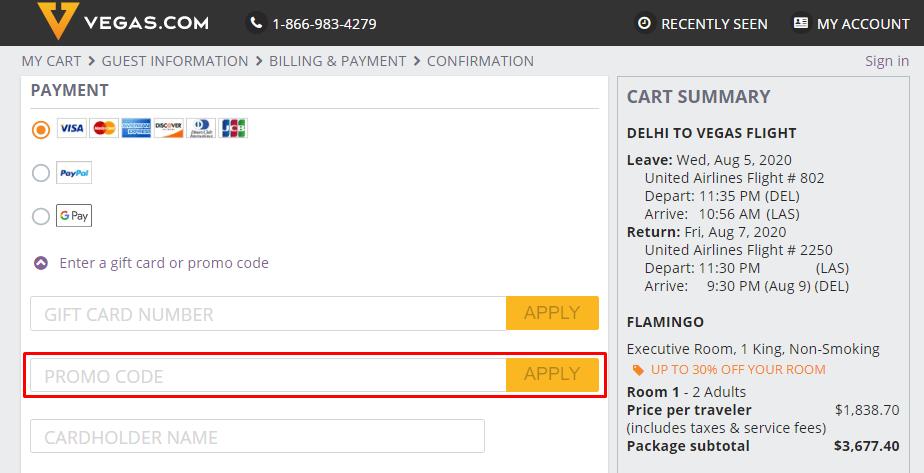 How do I use my VEGAS.com coupon code?