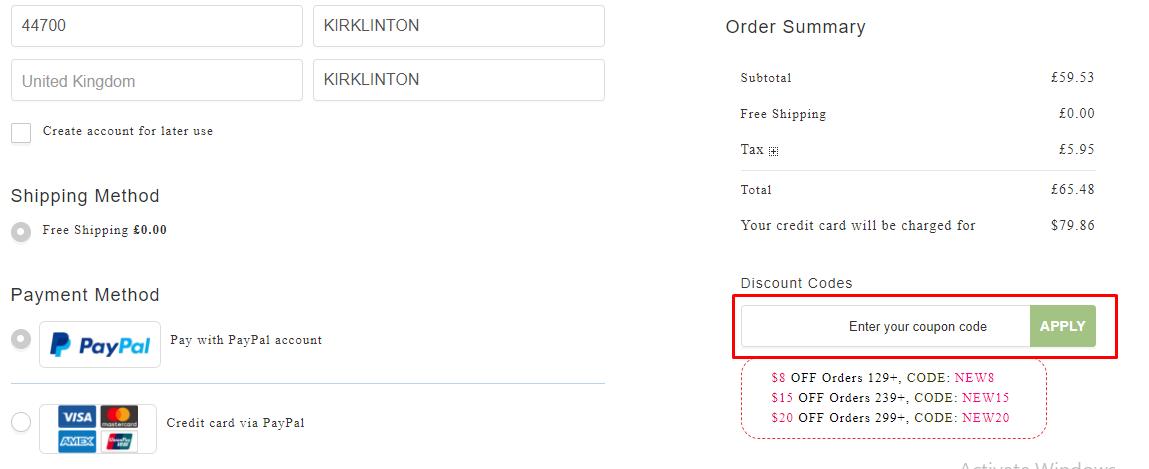 How do I use my Kriyya discount code?