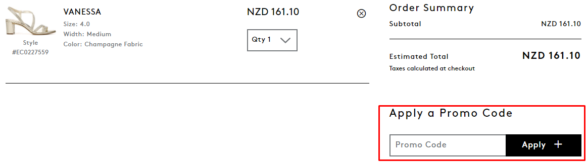 How do I use my Naturalizer Promo Code?