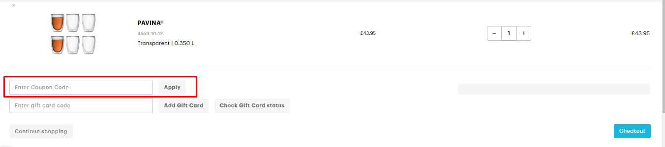 How do I use my Bodum discount code?