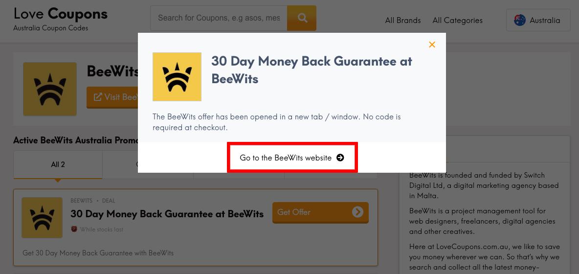 Beewits AU Get Offer