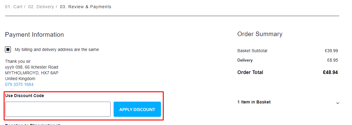 How do I use my Angelcare discount code?
