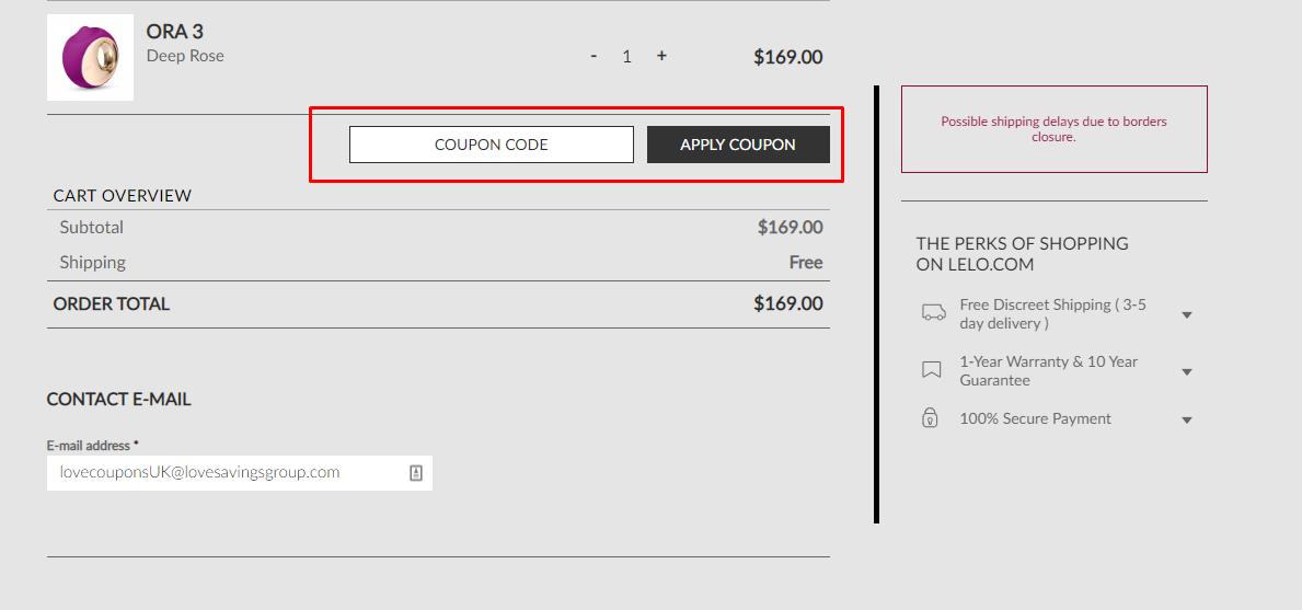 How do I use my Lelo discount code?