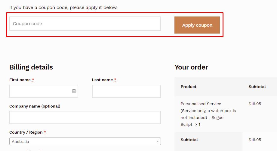 How do I use my dltradingau coupon code?