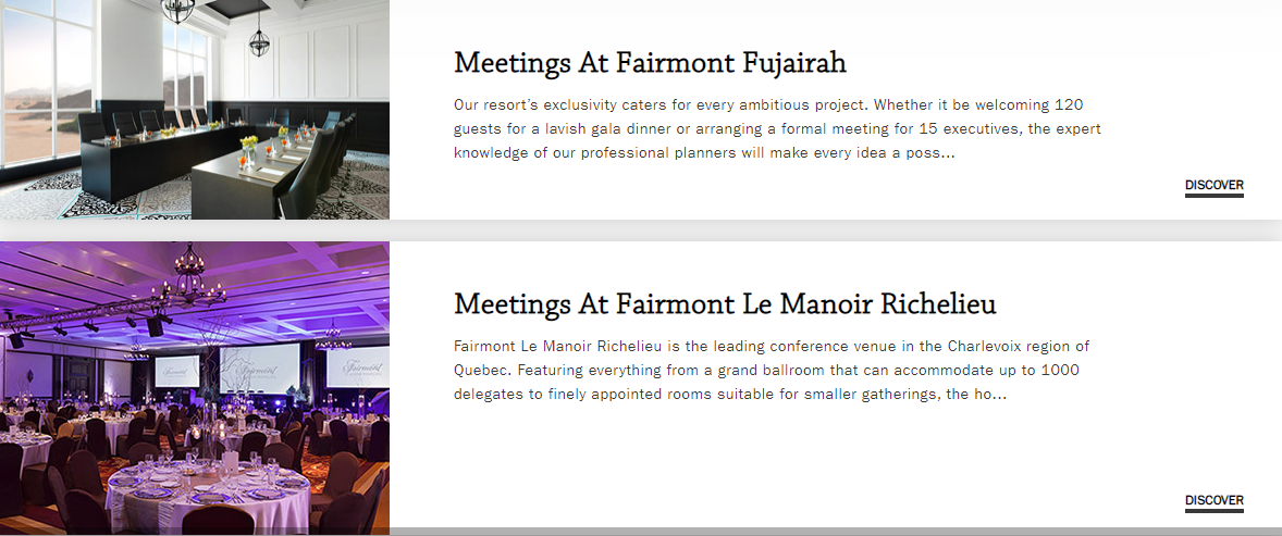 Fairmont Meetings