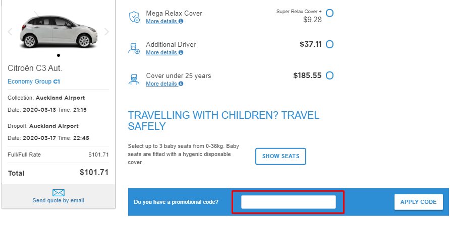 How do I use my InterRent discount code?