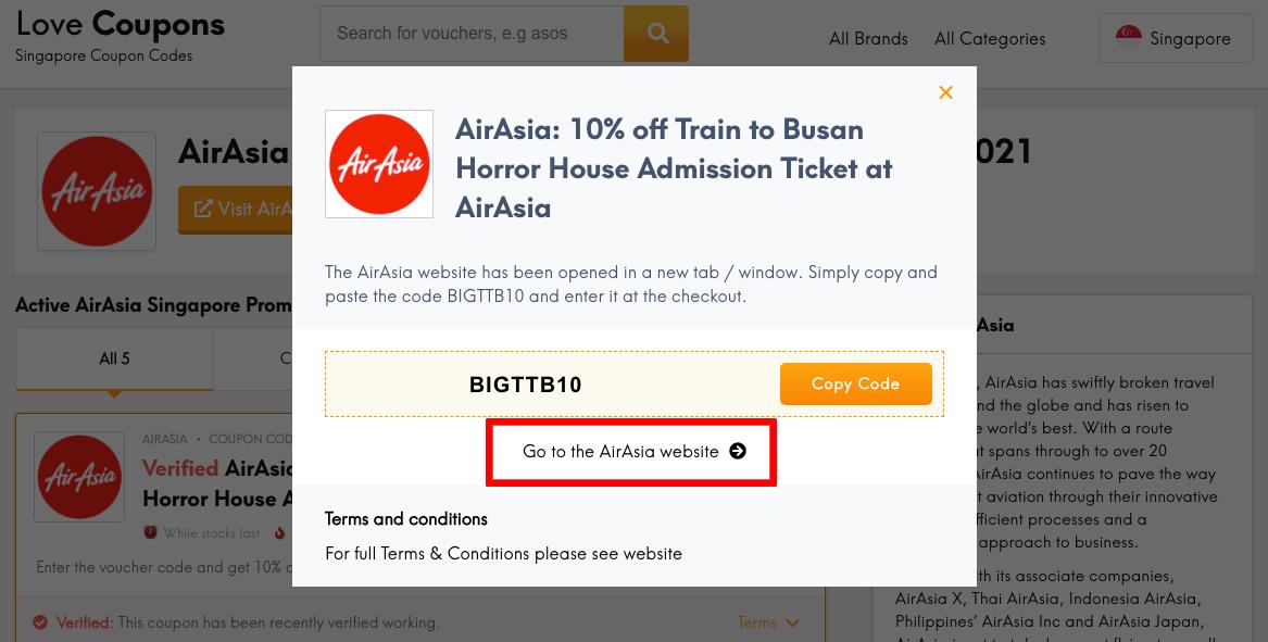 AirAsia SG Get Coupon