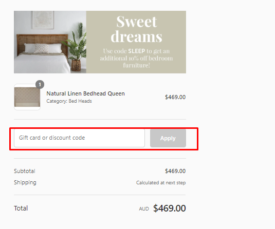 How do I use my Interiors Online discount code?