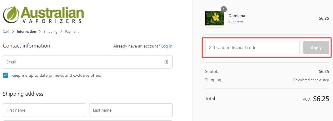 How do I use my Namaste Vaporizers discount code?