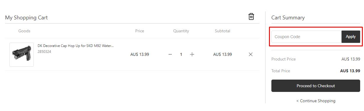 How do I use my Gelballmod coupon code?