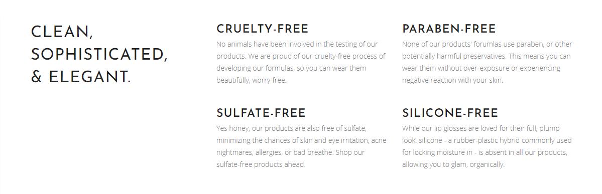 3 Graces Beauty Ingredients