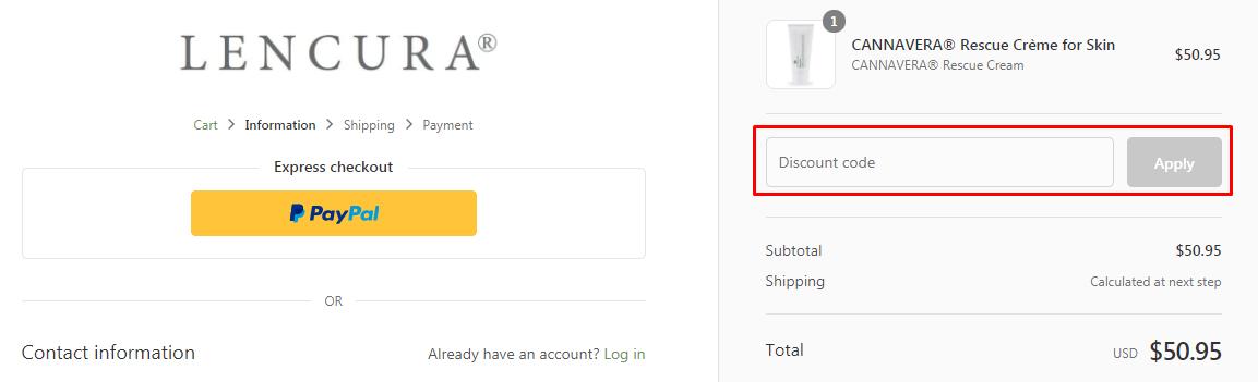 How do I use my Lencura discount code?