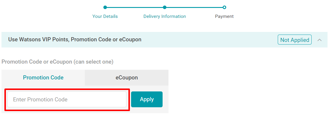 How do I use my Watsons discount code?