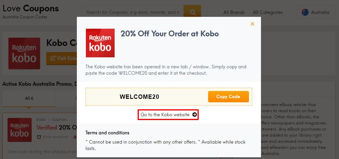 Kobo Offer AU